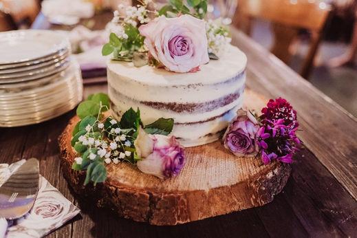 Swiss destination wedding_rustic cake