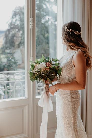Switzerland city wedding_bride shooting
