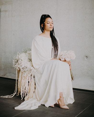 Black Bride_White Wedding dress_Gaea Des