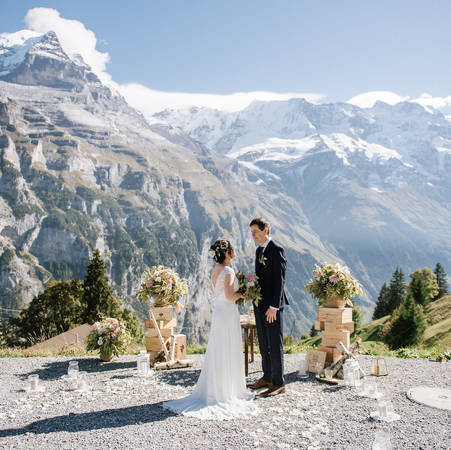 SWISS MOUNTAIN FLAIR WEDDING