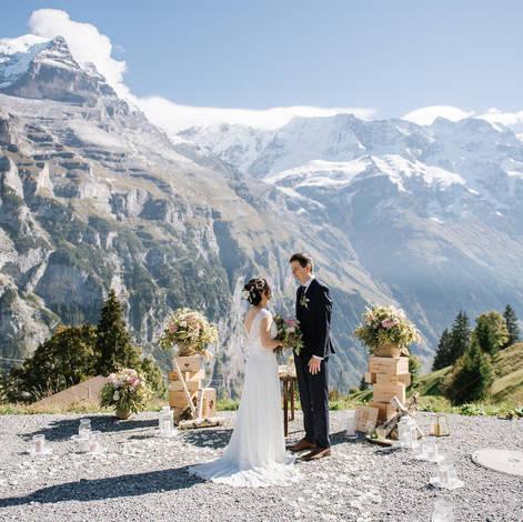 SWISS MOUNTAIN FLAIR WEDDING