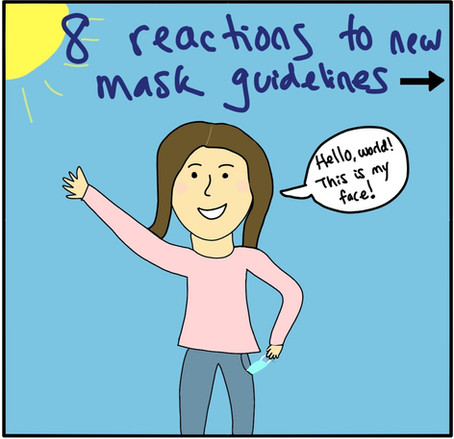 Mask on or mask off? Reactions to the new CDC guidelines.