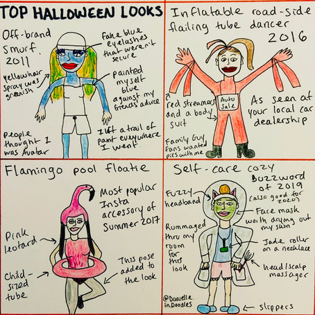 My best Halloween costumes - in doodles