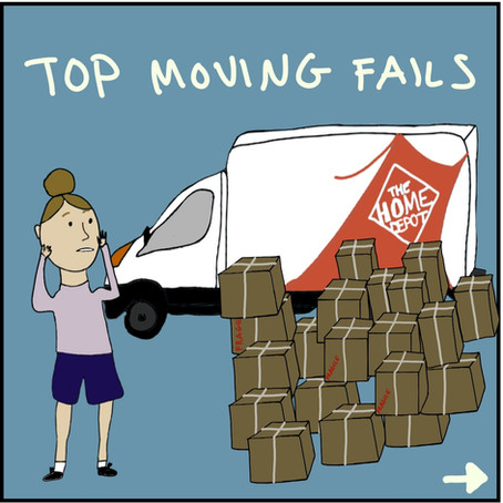 Funny moving fails in New York City