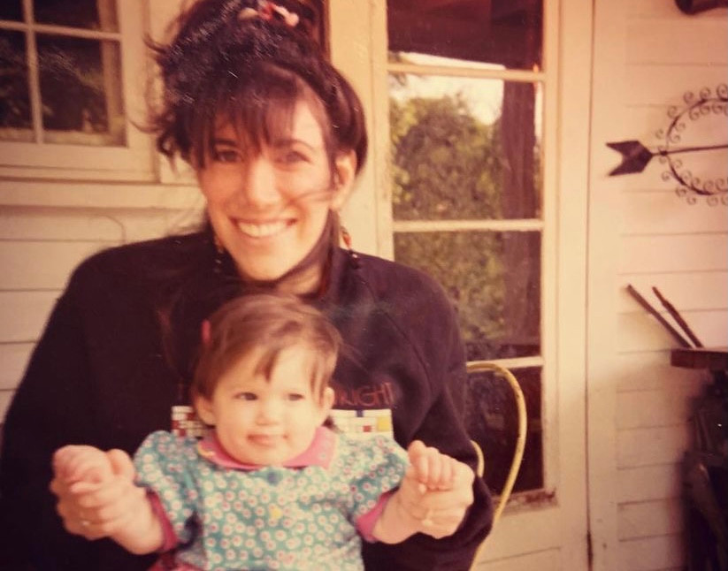 My mom and me when I was a baby.
