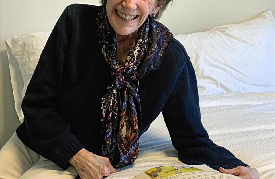 Grandma Natalie loves her Haggadah