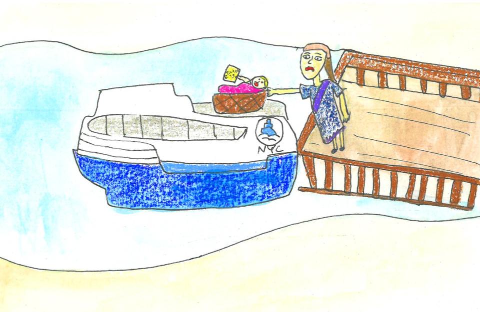Moses sails away