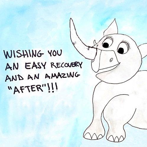 Nose Surgery Card, Nose Job Get Well, Rhinoplasty, Deviated Septum card