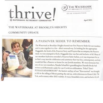 Watermark Retirement Community newsletter
