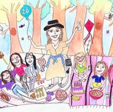 Julia Brody birthday doodle