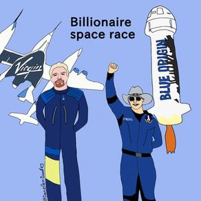 Billionaire space race —Jeff Bezos versus Richard Branson