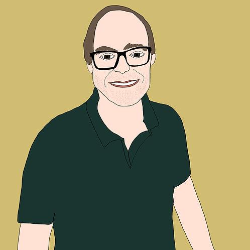 Custom Digital Headshot, Portrait, Digital Profile Picture, Cartoon Headshot