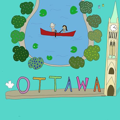 Ottawa personalized digital illustration