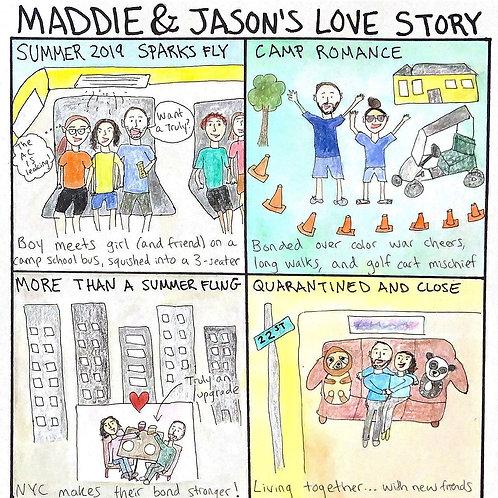 Love Story Cartoon, Couple Cartoon, Wedding Gift