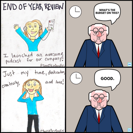 End of year review budget request comic