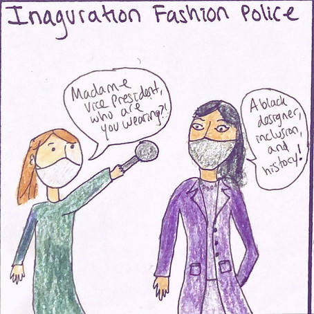 I drew a review of the inauguration fashion