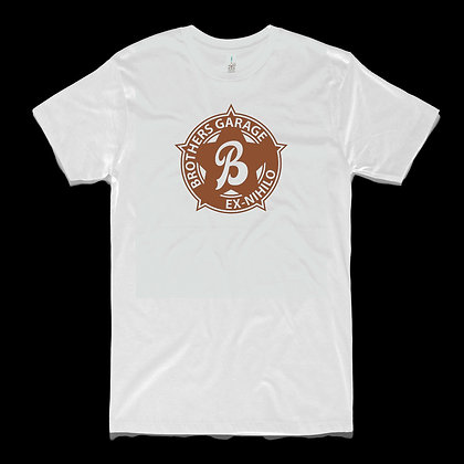 Brothers Badge Tee Mens Tan