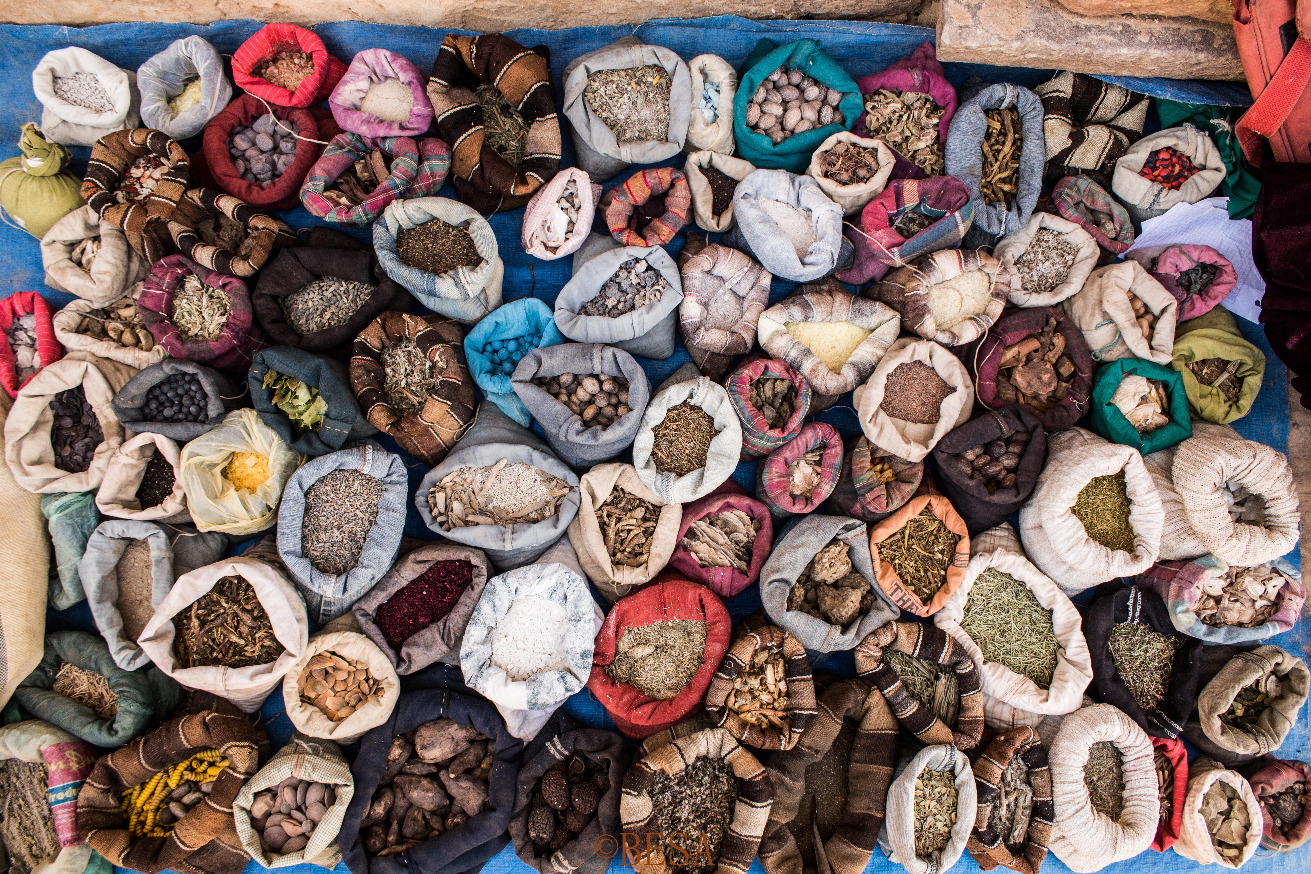 Saquitos de especias y semillas