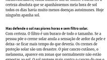 """Manuel Pinto Coelho em entrevista ao jornal Expresso: -""""O sol protege mais contra o cancro do q"""
