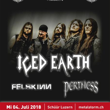Supporting ICED EARTH in der Schüür Luzern!