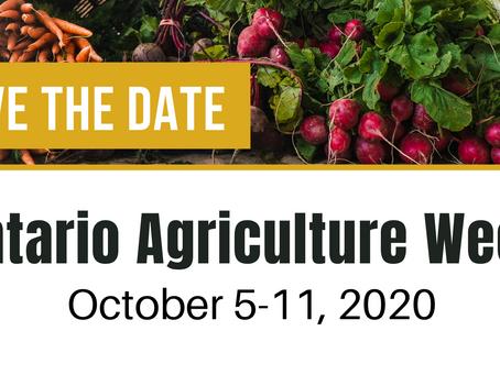 Ontario Agriculture Week 2020 is HERE!