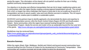 Expression of Interest – Regional Community Transportation Provider
