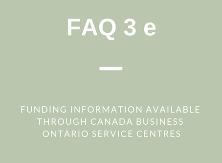 FAQ 3 (e): Funding Information Available through CFDCs and SBECs