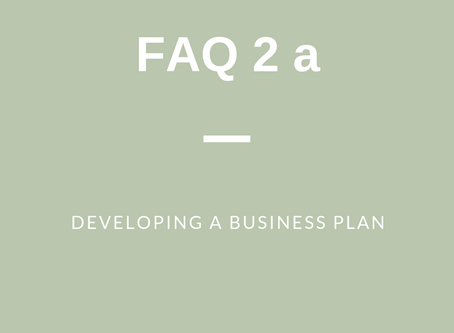 FAQ 2 (a): Developing a Business Plan