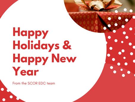 Happy Holidays & Happy New Year from the SCOR EDC Team
