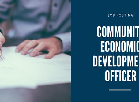 Job Posting: Community Economic Development Officer