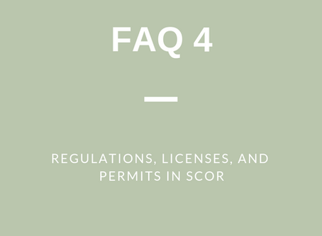 FAQ 4 (a): Regulations, Licenses and Permits in SCOR