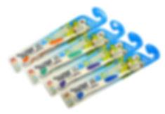 Эко Зубная щетка детcкая мягкая 3-10лет с серебром, в ассортименте, DOCTOR PROFF