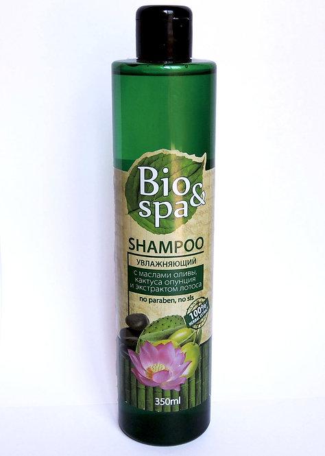 Bio&Spa Шампунь для волос увлажняющий (масло оливы, масло кактуса опунция, лотос