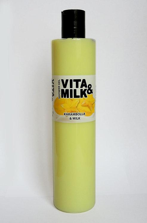 Vita&Milk / Гель для душа Карамбола 350 мл