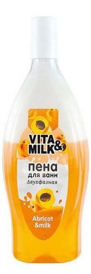 Vita&Milk/Пена двухфазная для ванн Абрикос и молоко 850мл, штук