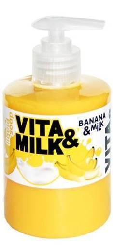 ВМ жидкое мыло 300мл Банан и молоко