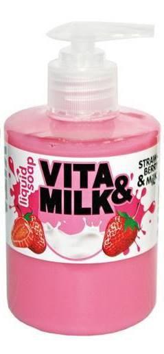 ВМ жидкое мыло 300мл Клубника и молоко
