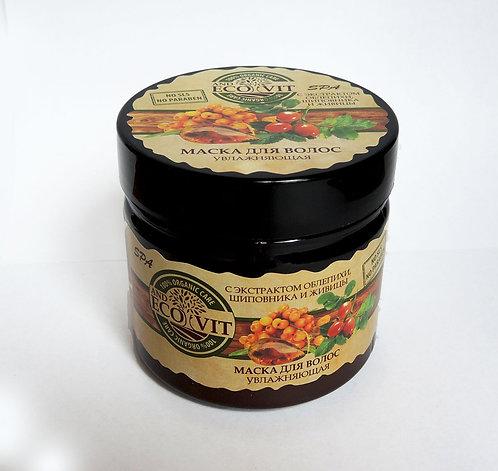Маска для волос «Увлажняющая» с экстрактом облепихи, шиповника и живицы ECOandVI