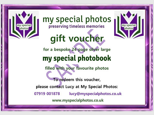 Gift voucher - Silver Large photobook