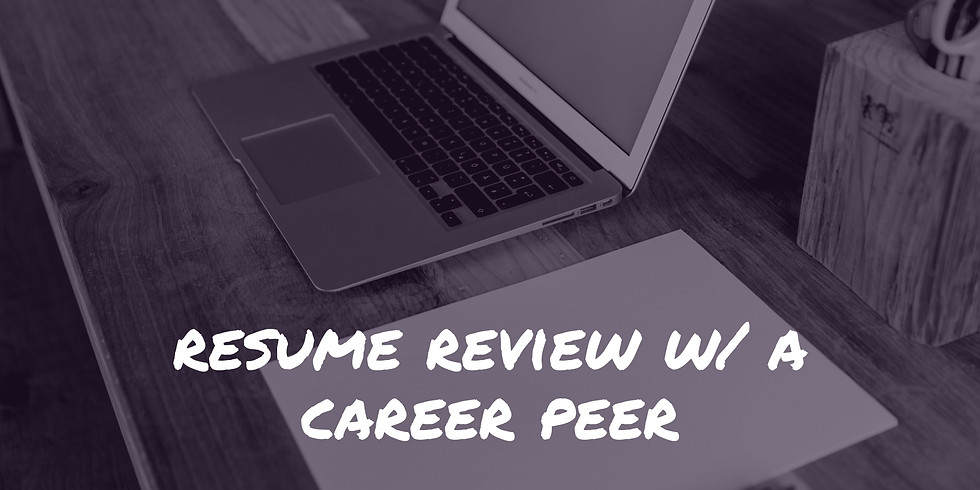 Resume Review with a Career Peer