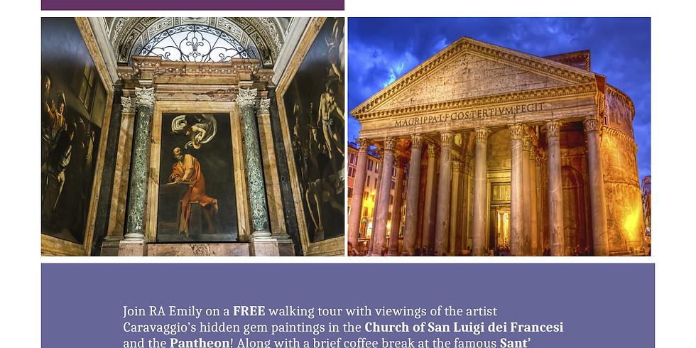 Caravaggio, Caffé & Pantheon Tour