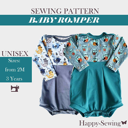 Baby and Toddler Romper Sewing Pattern
