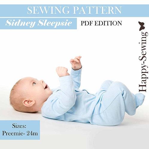 Sidney Baby Sleepsie Pajamas - Sewing Pattern