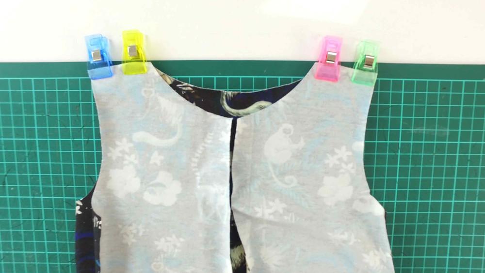 Sleepsie shoulder seams PJ Sewing pattern