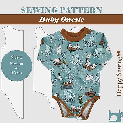 Baby Onesie - Sewing Pattern