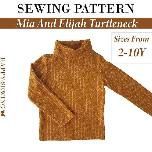 Mia And Elijah Turtleneck - Sewing Pattern