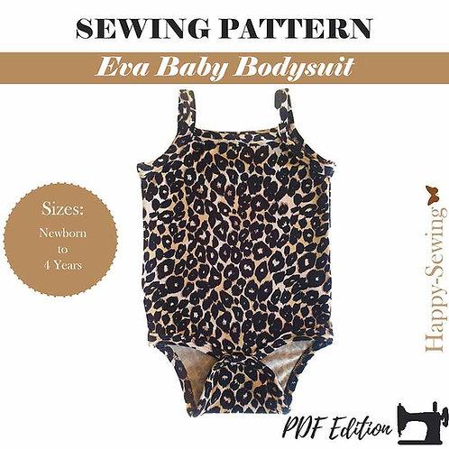 Eva Baby Bodysuit - Sewing pattern