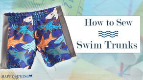 How to Sew Swim Trunks Tutorial