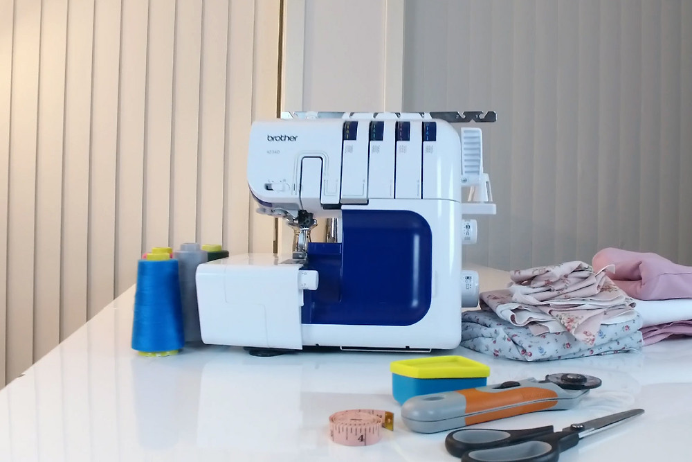 How to Make a Rolled Mem on a Brother Serger / Overlock Sewing Machine