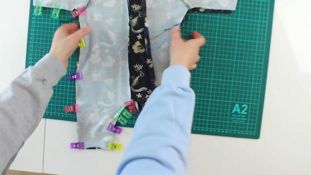 Footed PJ Sleepsie sewing Tutorial